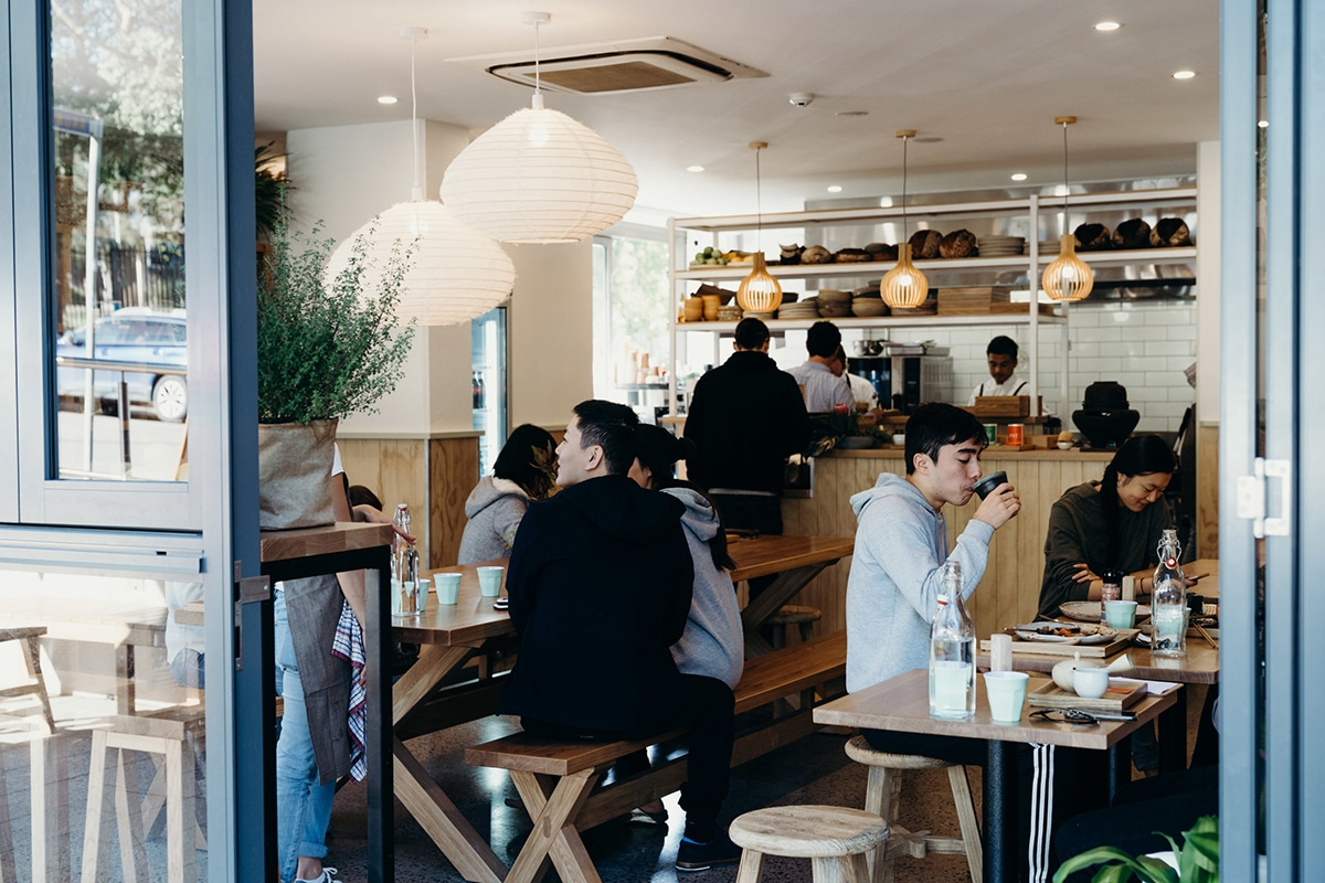 cafe monaka interior