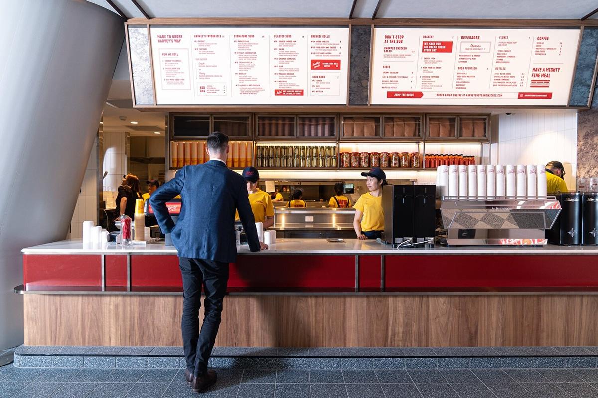 harveys hot sandwiches interior
