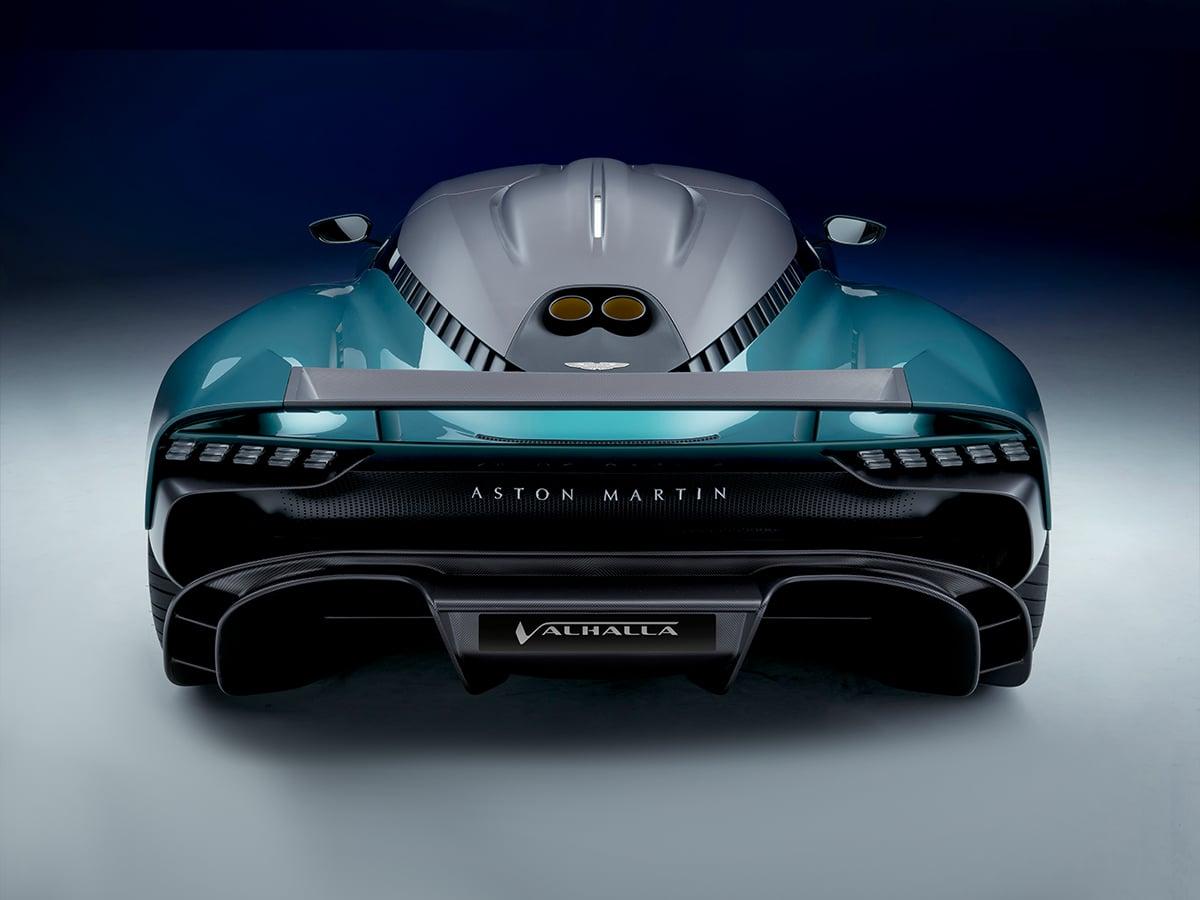 Aston martin valhalla from behind