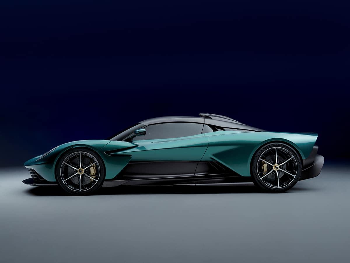 Aston martin valhalla side on
