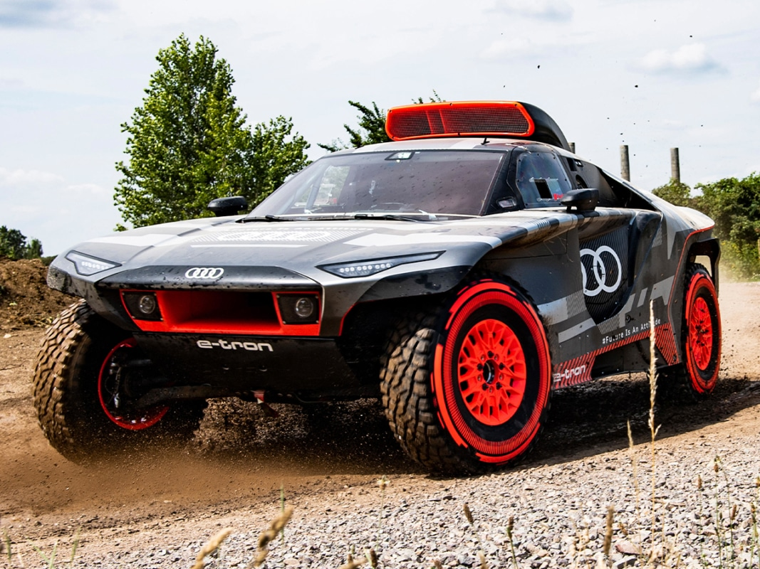 Audi rs q e tron rally car
