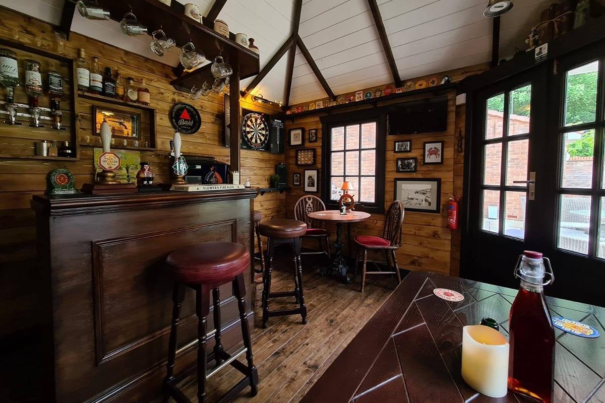 Couple build cozy pub in their backyard 2