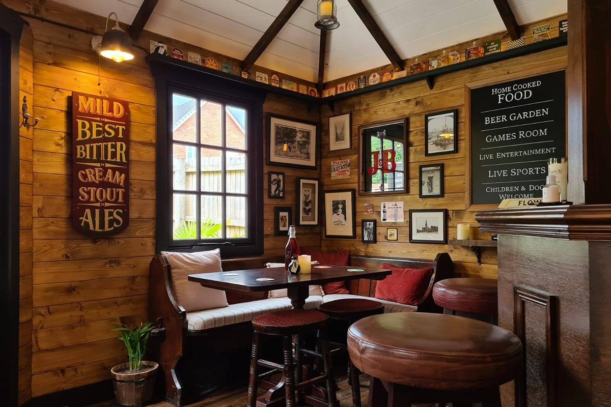 Couple build cozy pub in their backyard 6