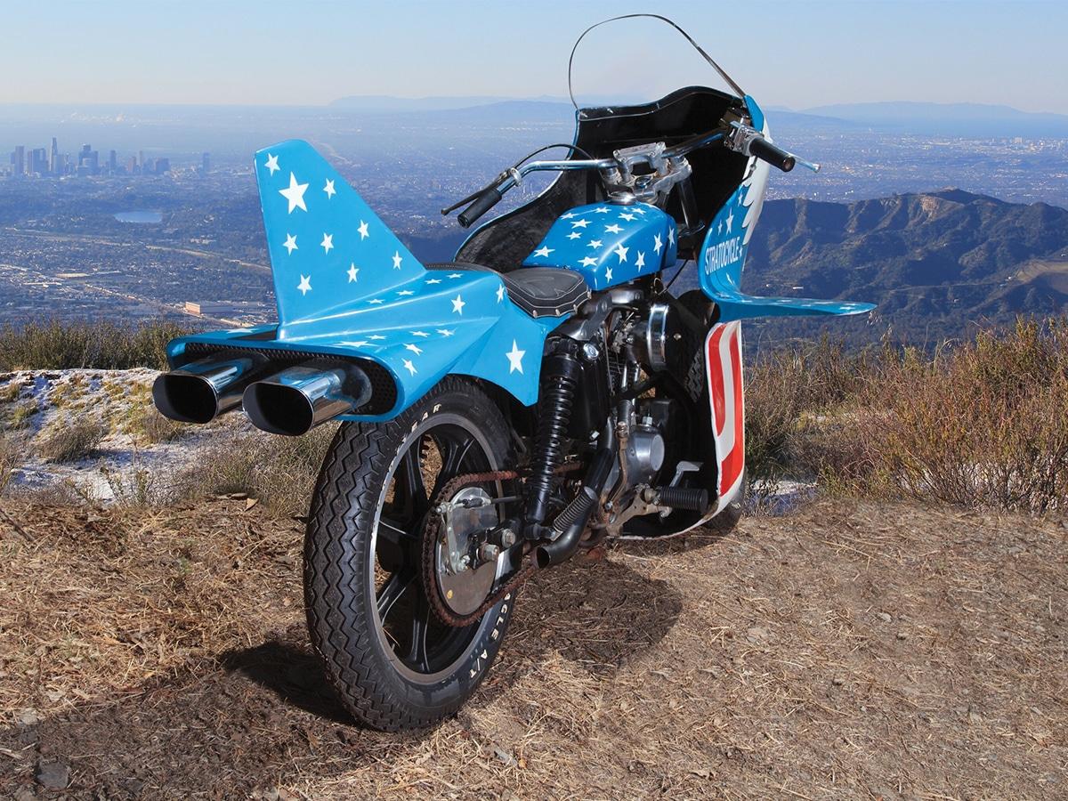 Evel knievels 1976 harley davidson sportster 'stratocycle 2