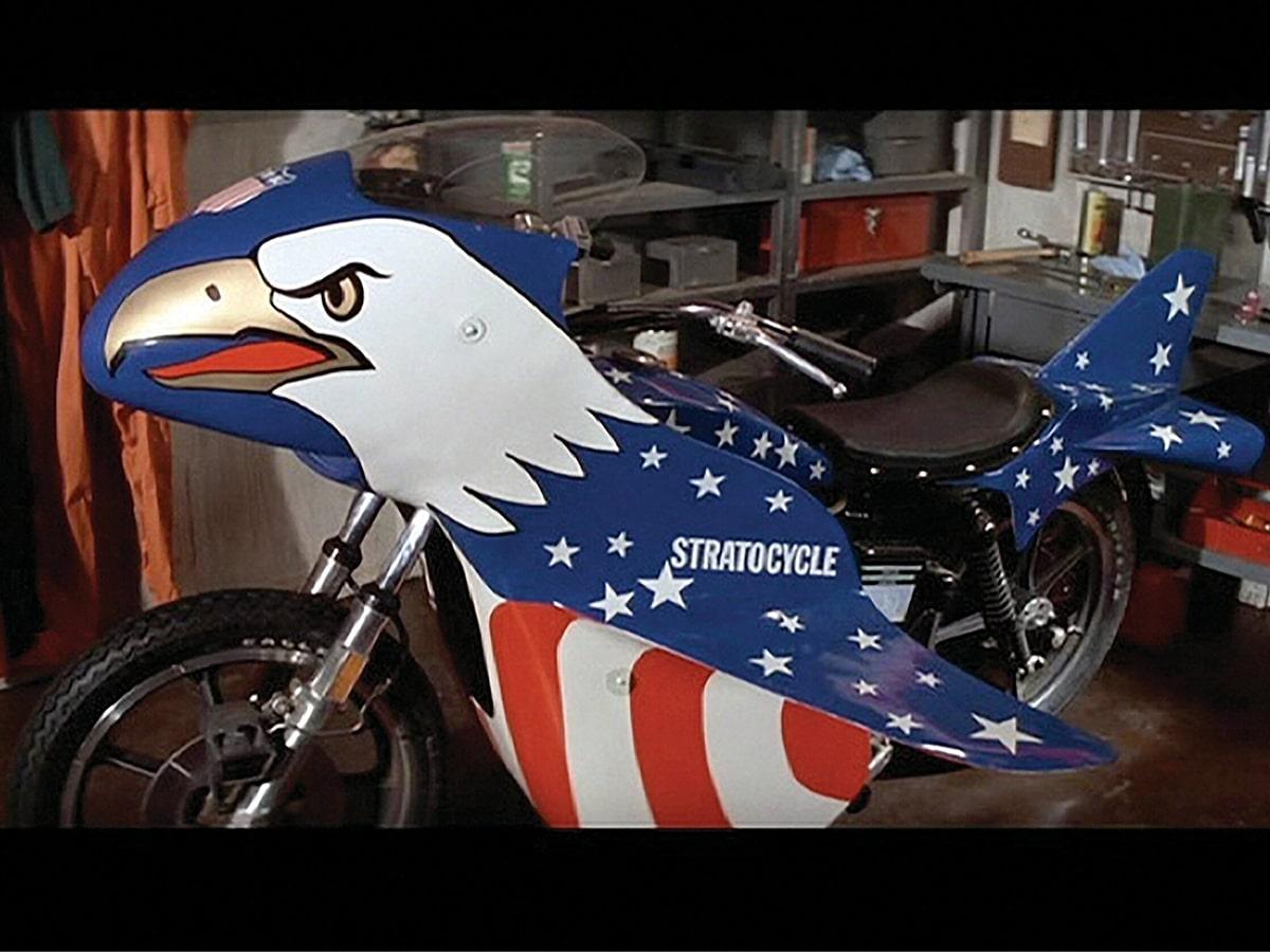 Evel knievels 1976 harley davidson sportster 'stratocycle 4