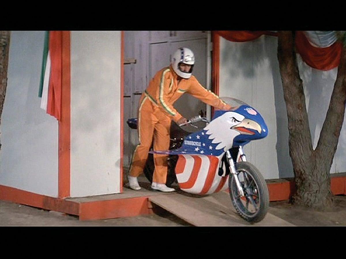Evel knievels 1976 harley davidson sportster 'stratocycle 6