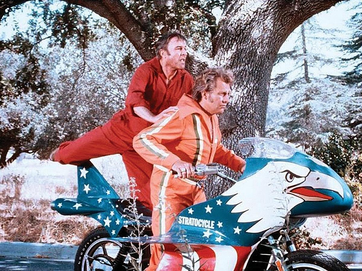Evel knievels 1976 harley davidson sportster 'stratocycle 7