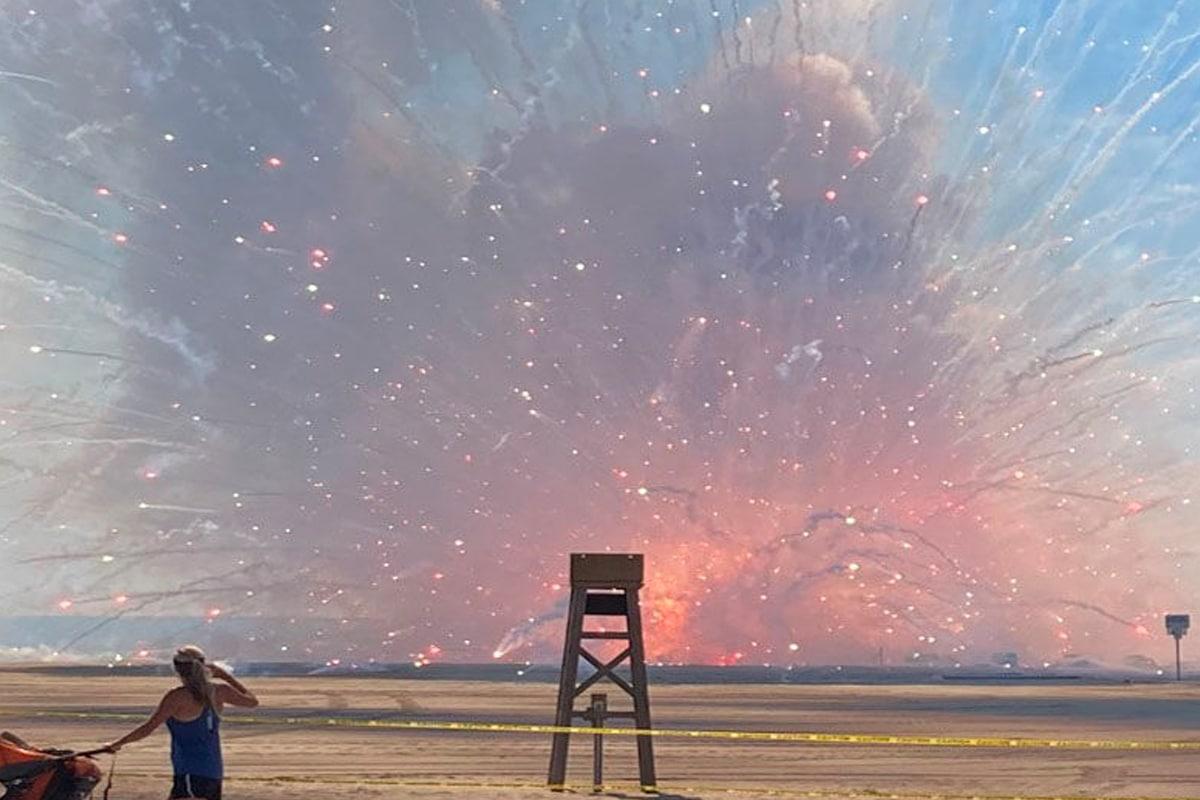 Fireworks truck explosion 1