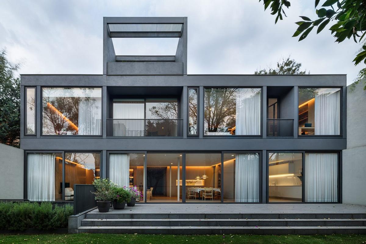 Hemaa updates mid century sierra negra house in mexico city