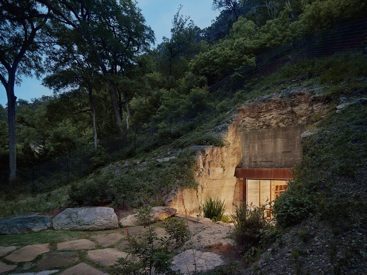 Hill country wine cave