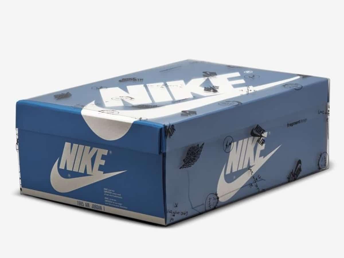 Jordan 1 high og fragment design x travis scott box