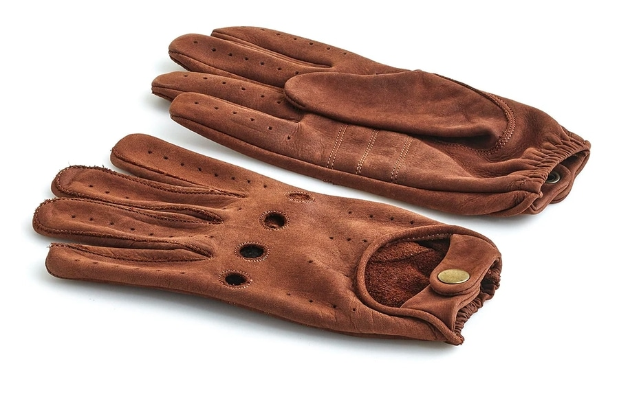 modest vintage player heritage brown leather driving gloves