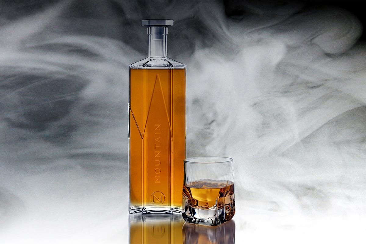 Mountain distilling red gum whisky
