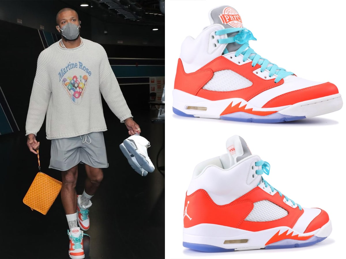 Pj tucker carmelo anthony prfc air jordan 5 pe made exclusively for his nasl soccer team in puerto rico