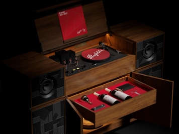 Penfolds Grange 70th Anniversary Record Player Hides a Score of Rare Vintages