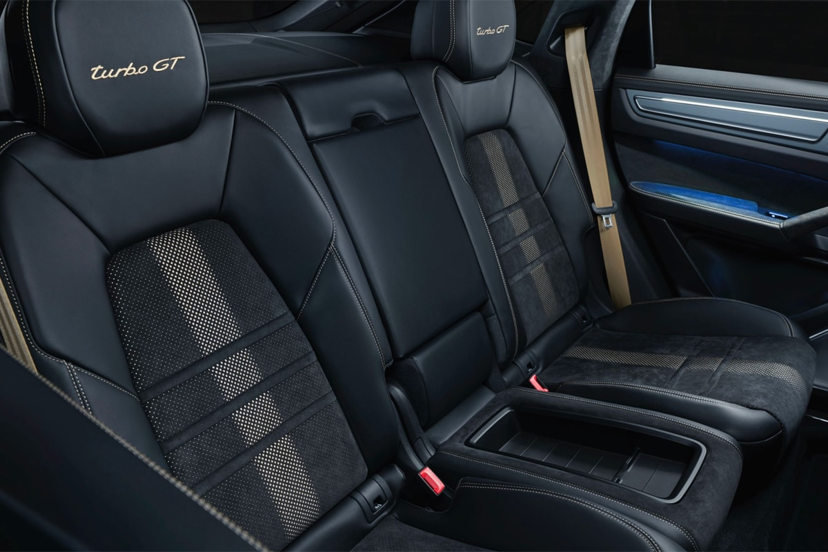 Porsche cayenne turbo gt rear seats