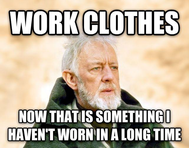 Work from home meme clothes