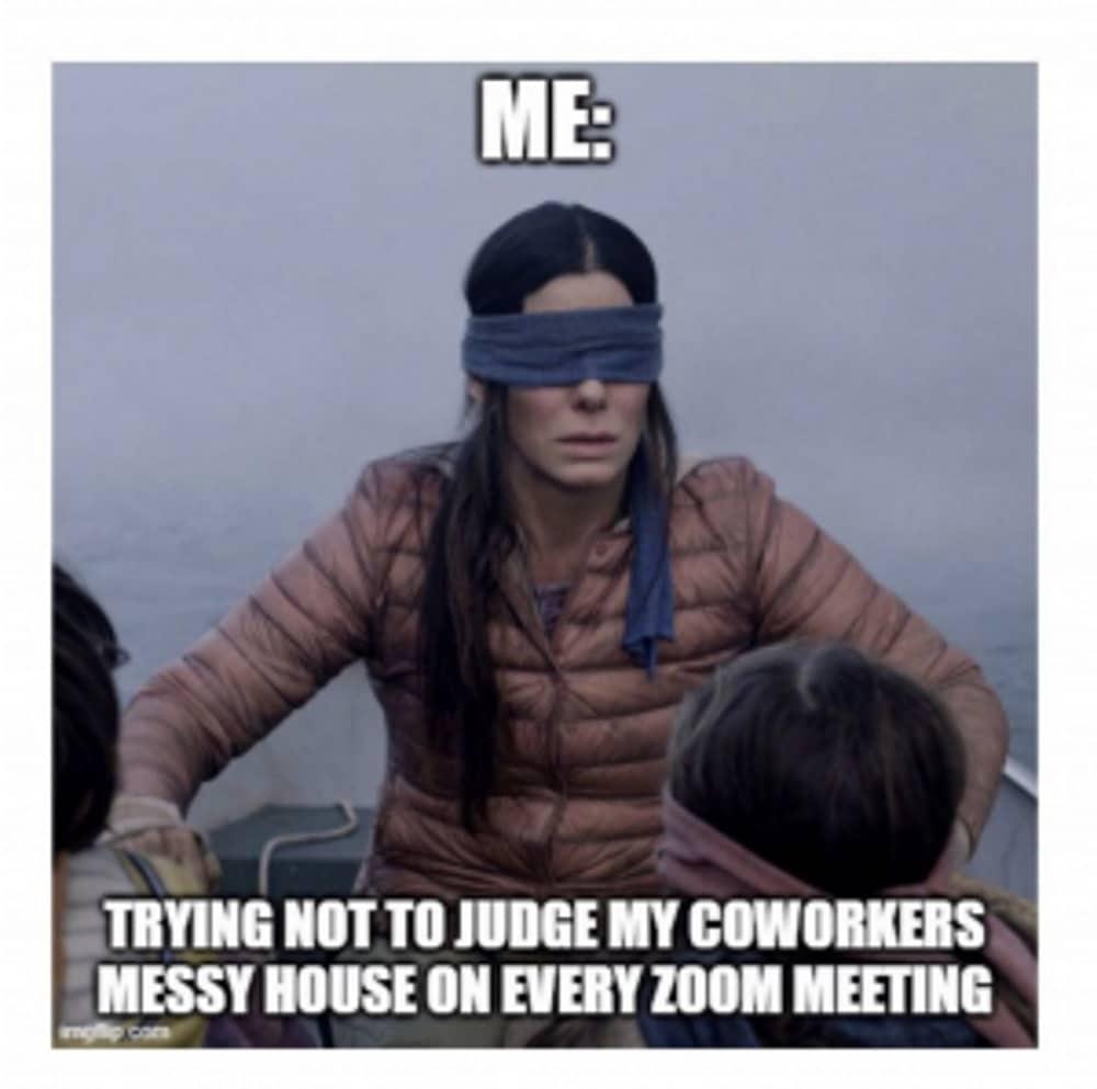 Work from home meme juding