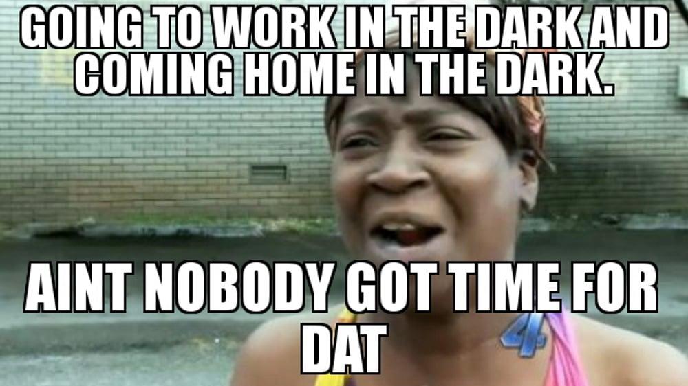 Work from home meme nighttime