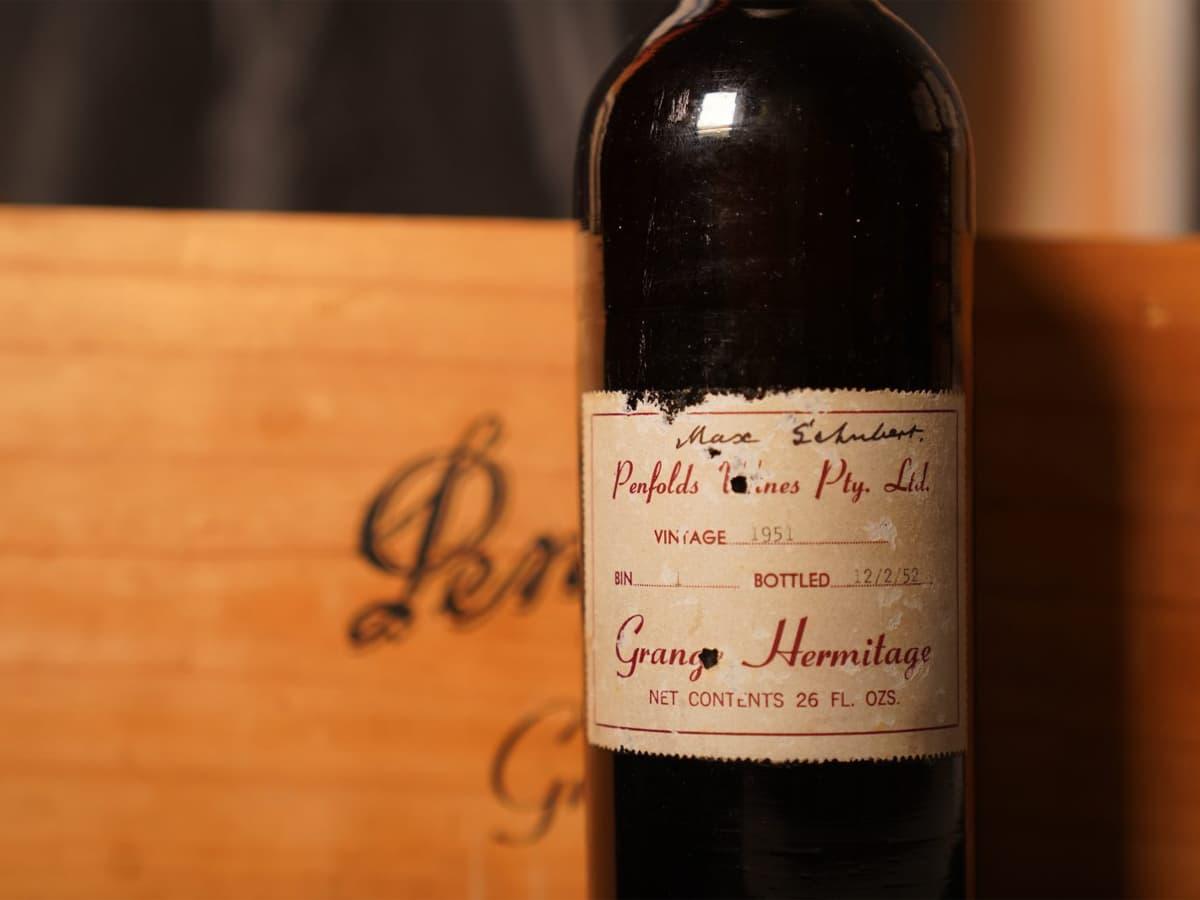 Penfolds wine record grange hermitage 1