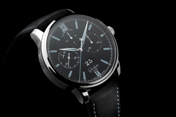 glashütte original watch black