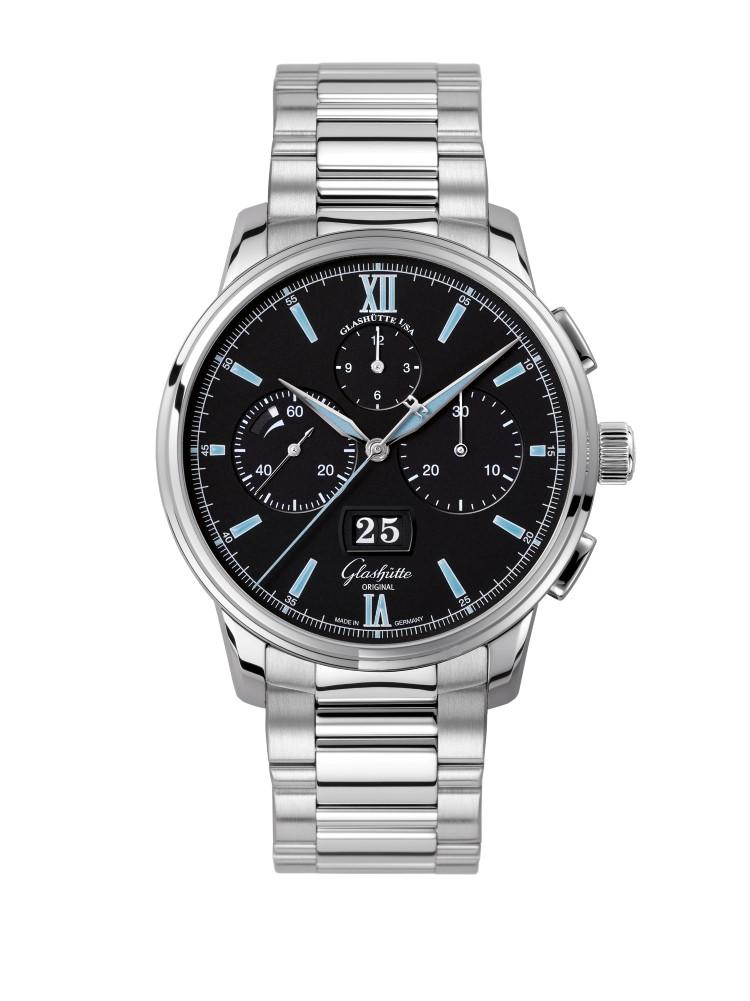 glashütte original watch stainless steel