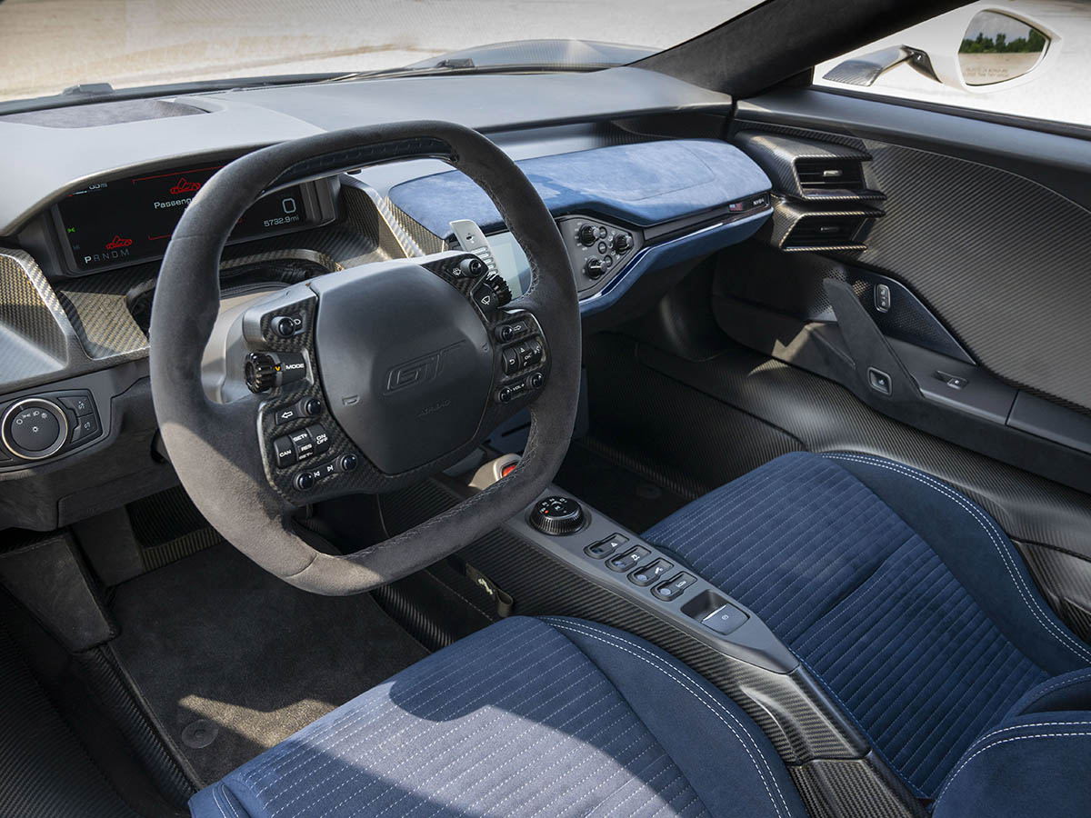 2022 ford gt heritage edition driver area