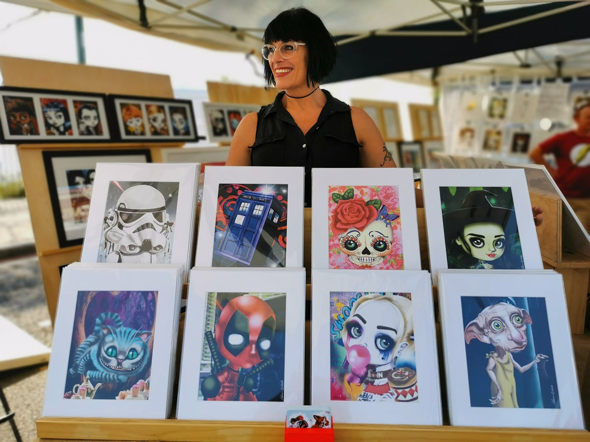 paintings showcase at redcliffe market