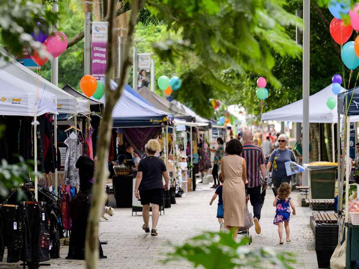 riverside street market alley view