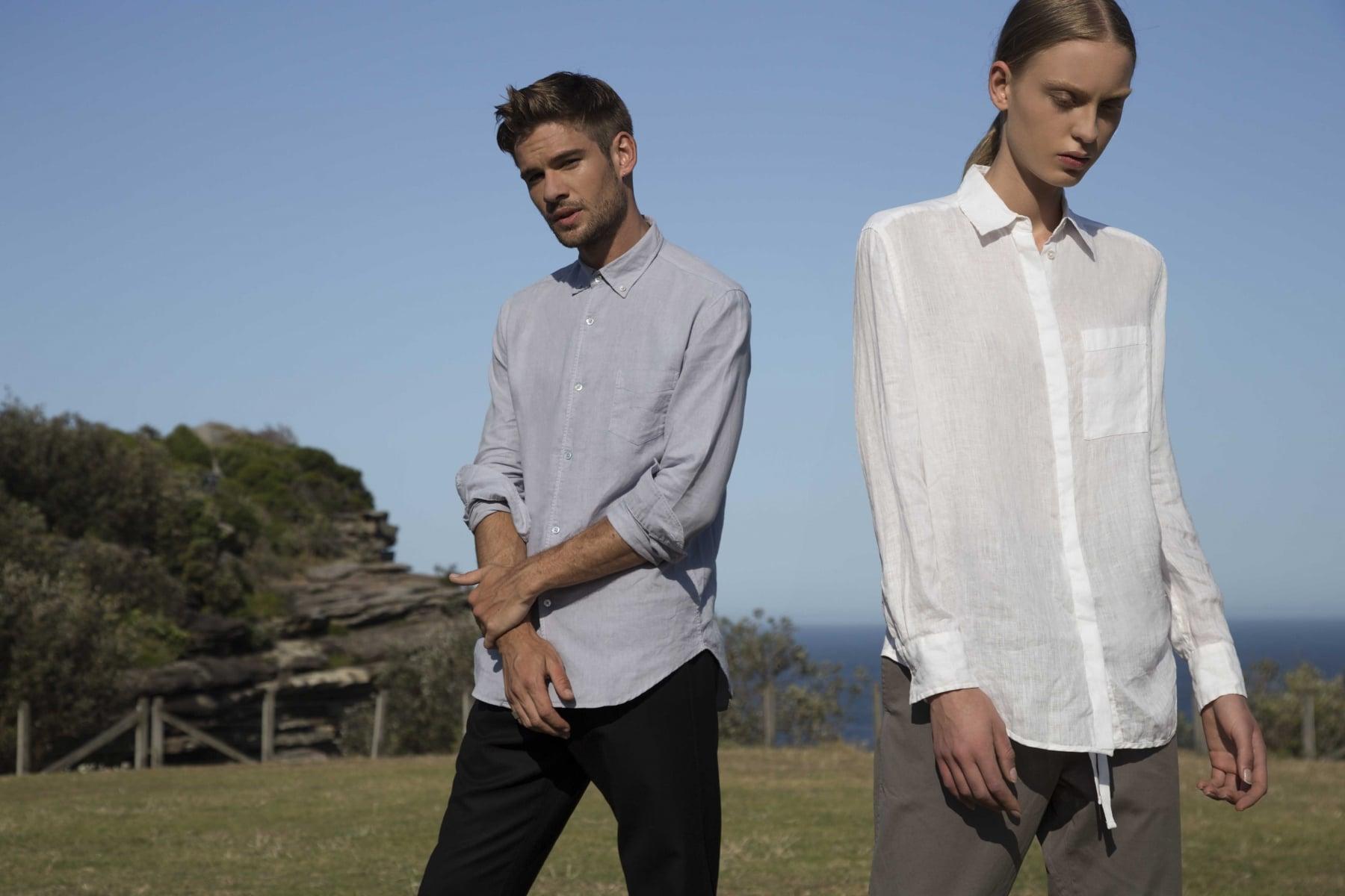 assembly label voucher men and women wearing shirt