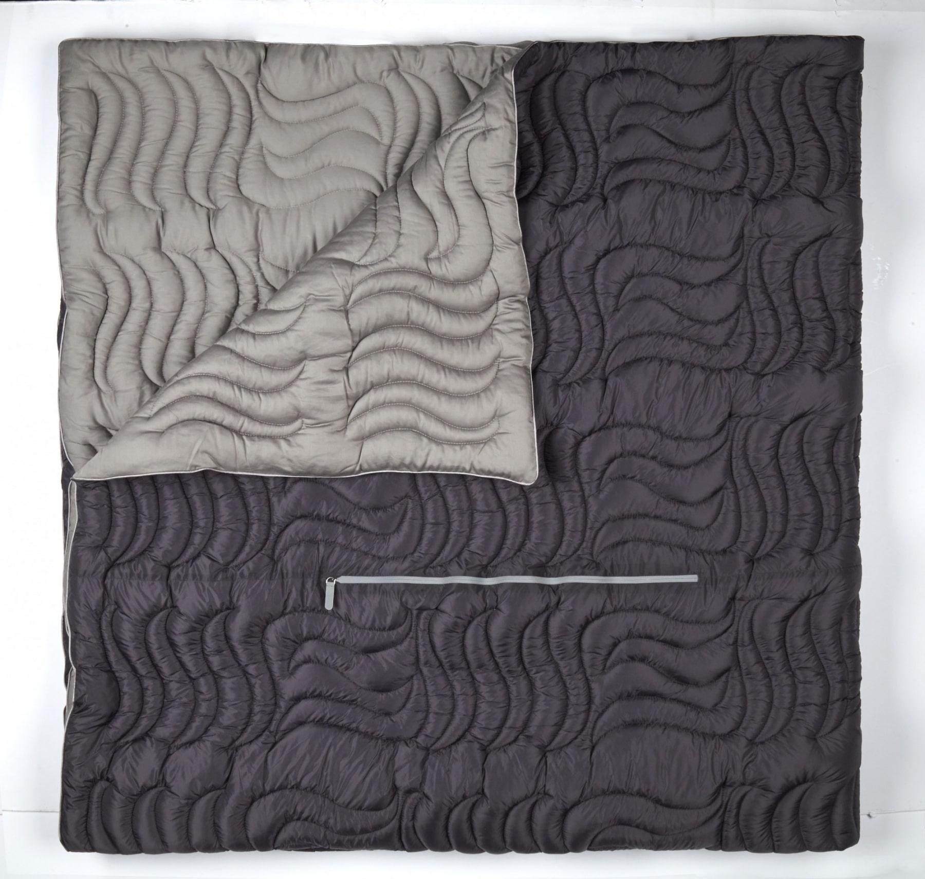 bedgear blanket with grey fold blanket