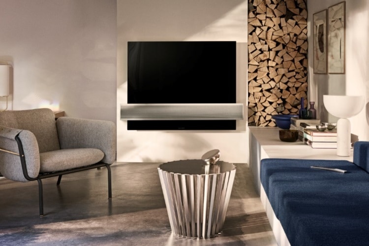 bang and olufsen loudspeakers attached tv