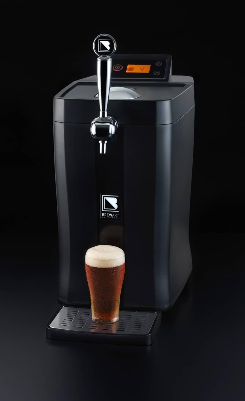 brewart brewer machine poured whisky in glass