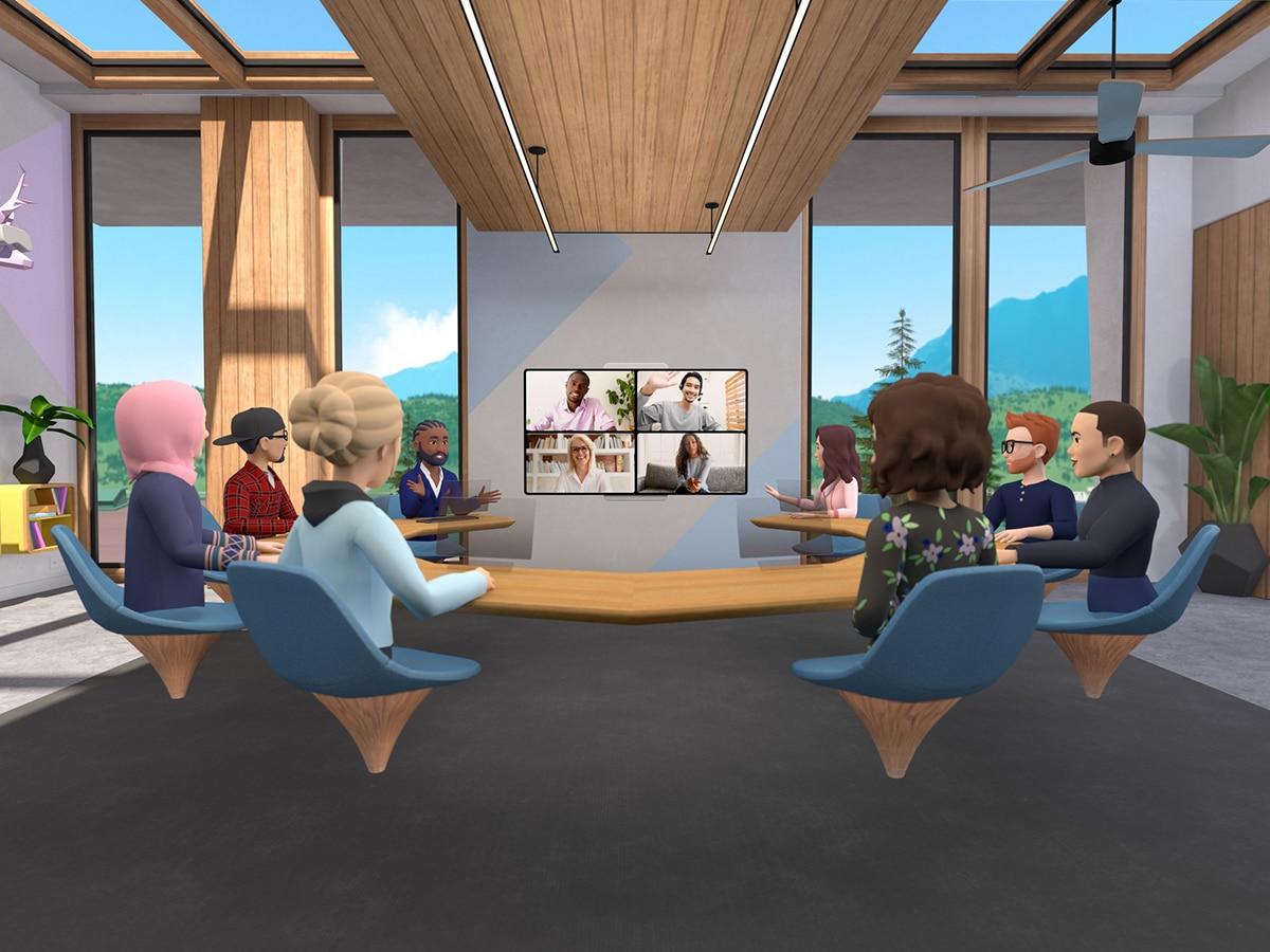 Facebook horizon workrooms discussing
