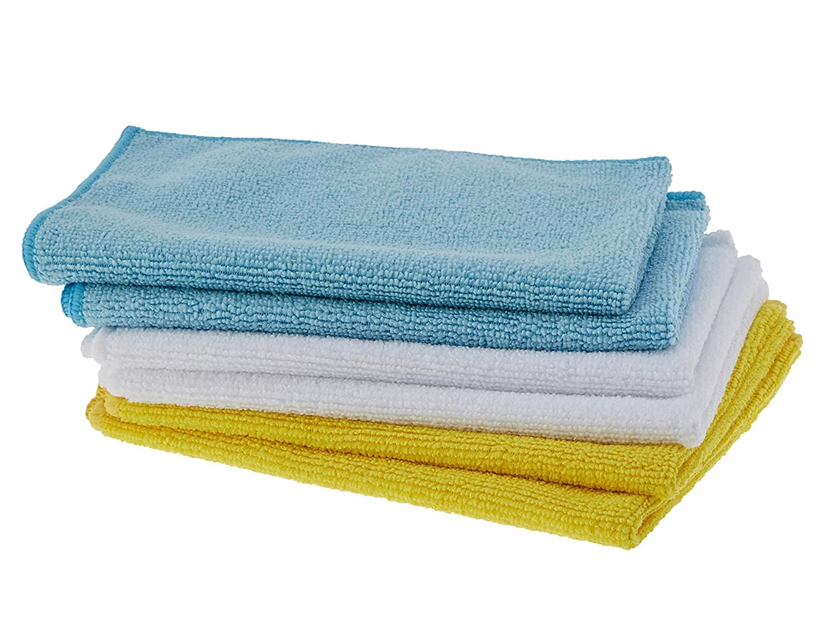 amazon basics microfiber cleaning cloths