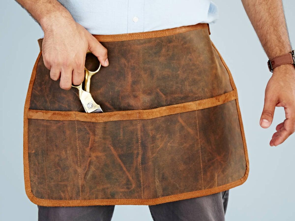 personalised buffalo leather tool belt