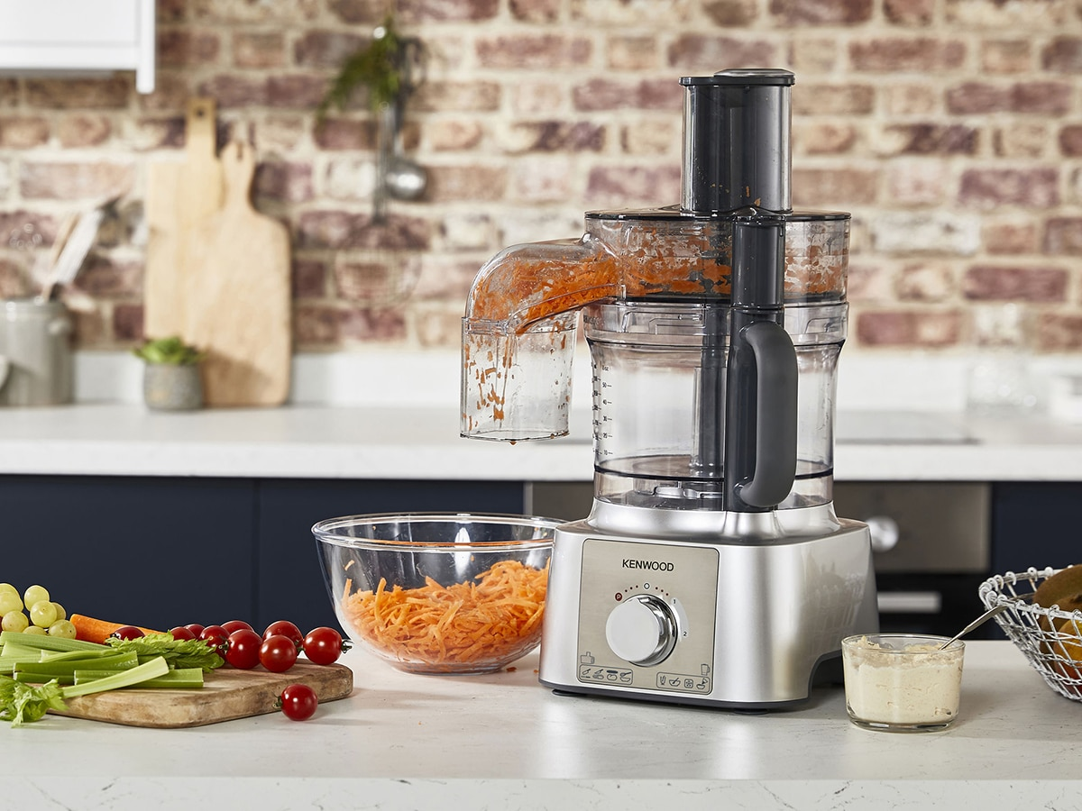 kenwood multipro express with sliced carrots