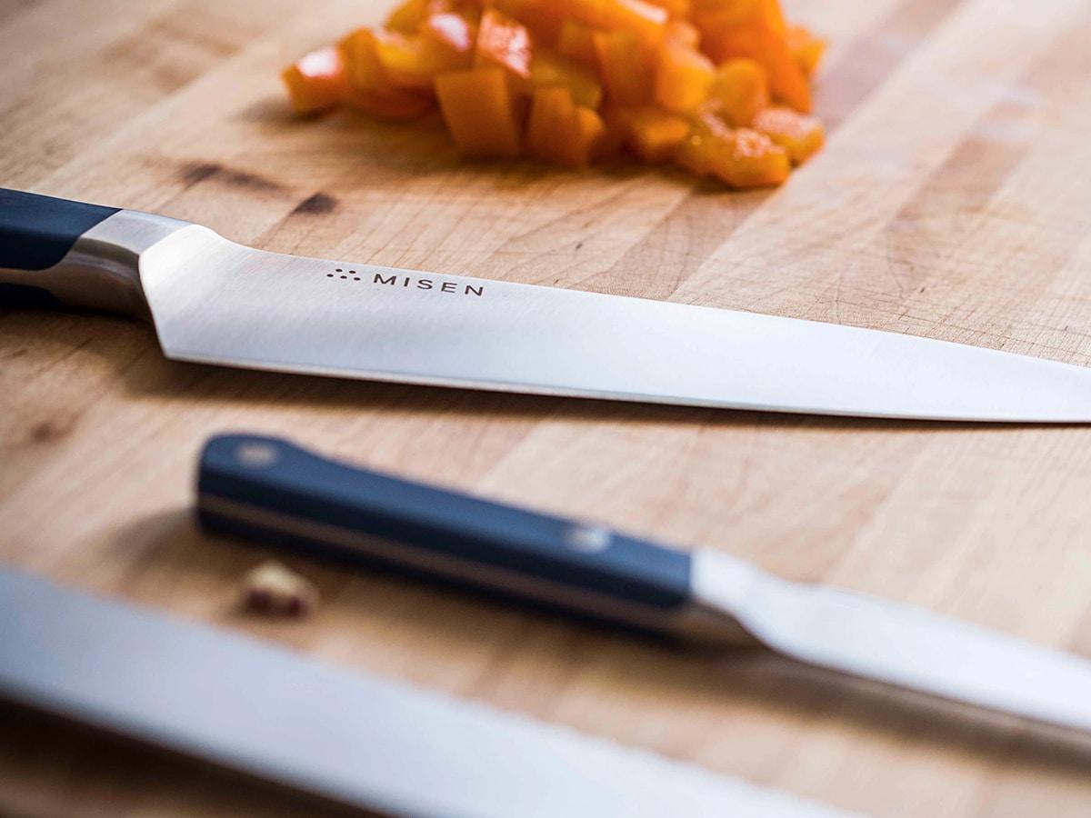 misen steak knives on kitchen table
