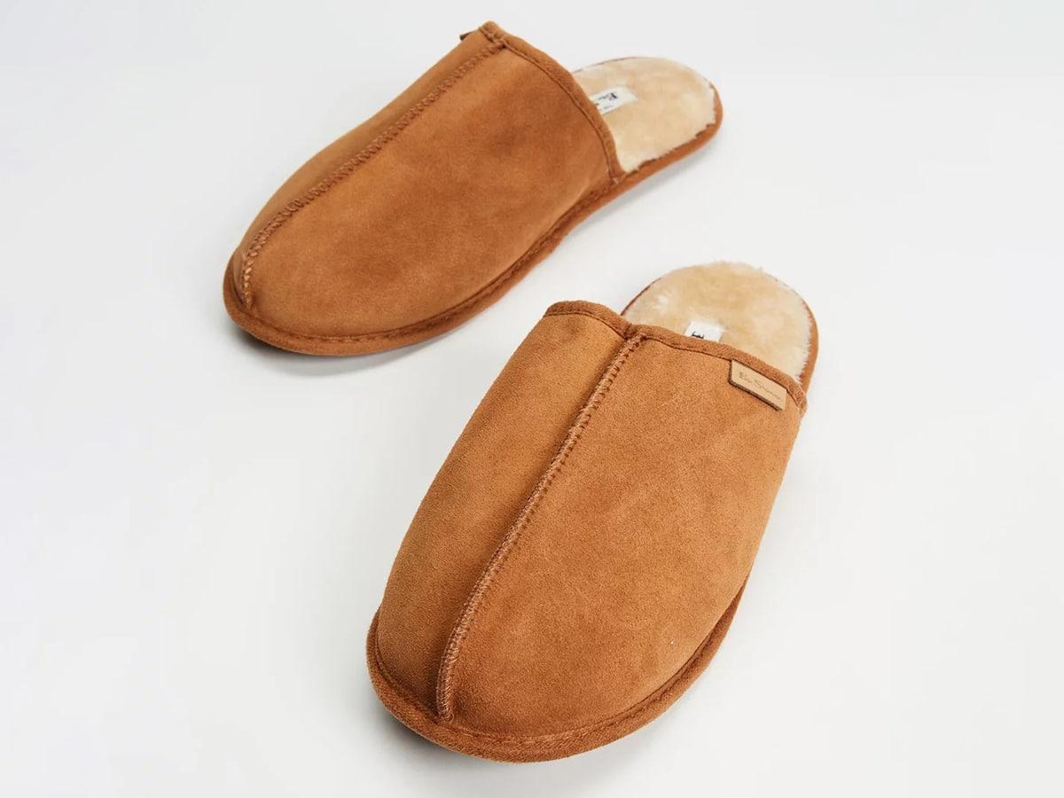 ben sherman cowskin mule slipper