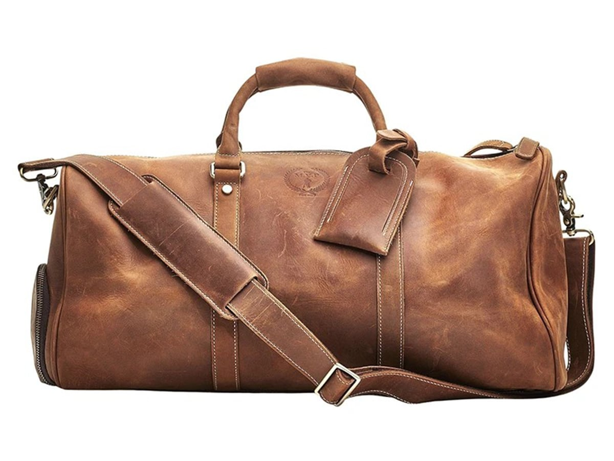 modest vintage player deluxe sports bag