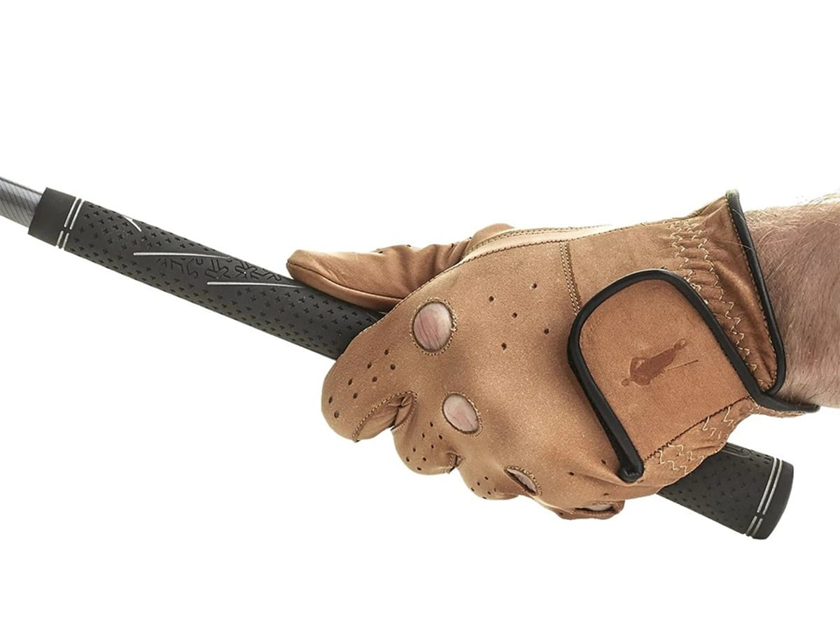 modest vintage player leather golf gloves