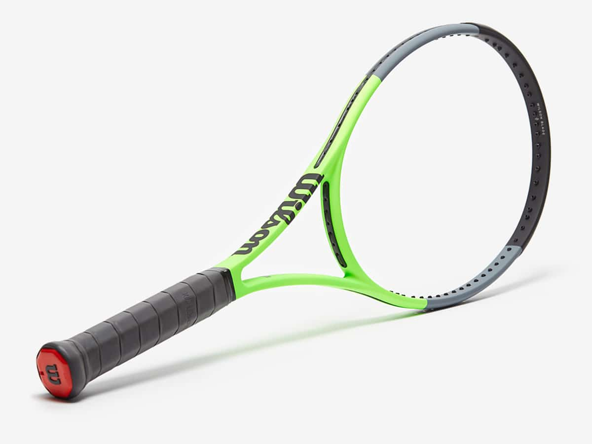 wilson green grey blade 98 version 7 tennis racket