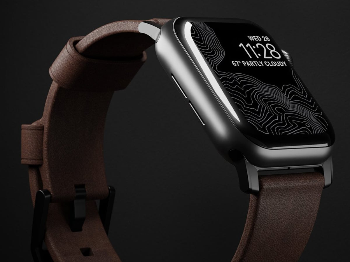 brown leather nomad apple watch straps