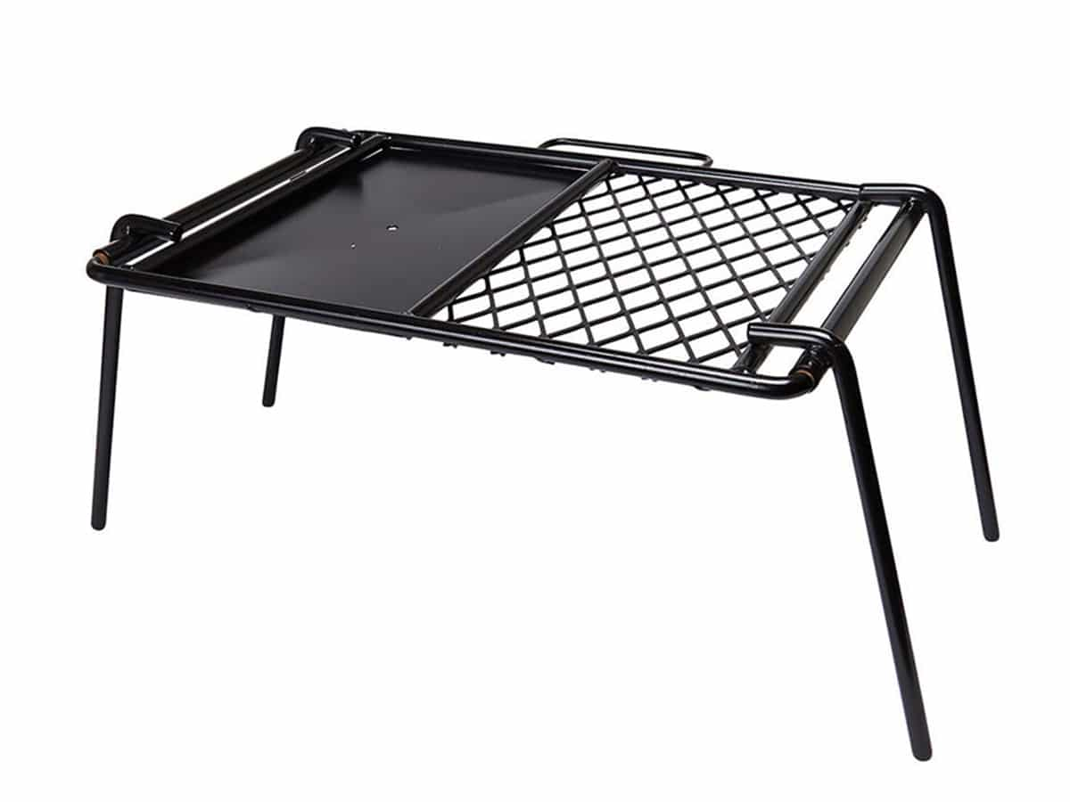 campfire mesh grill and flat plate combo