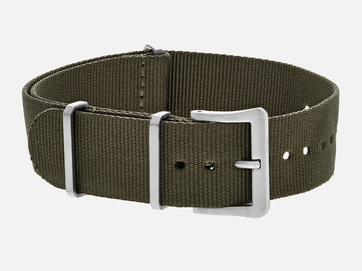 Fathers day gift guide watch lover ute nylon watch strap in olive