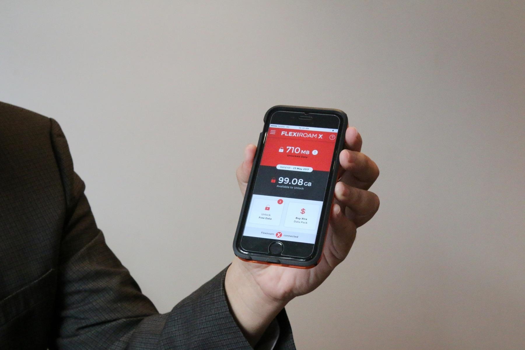 flexiroam x app unlock data