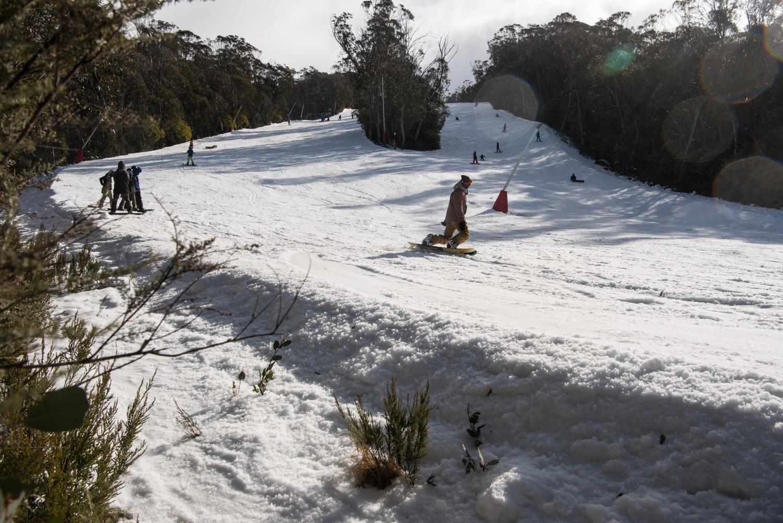 snow road view