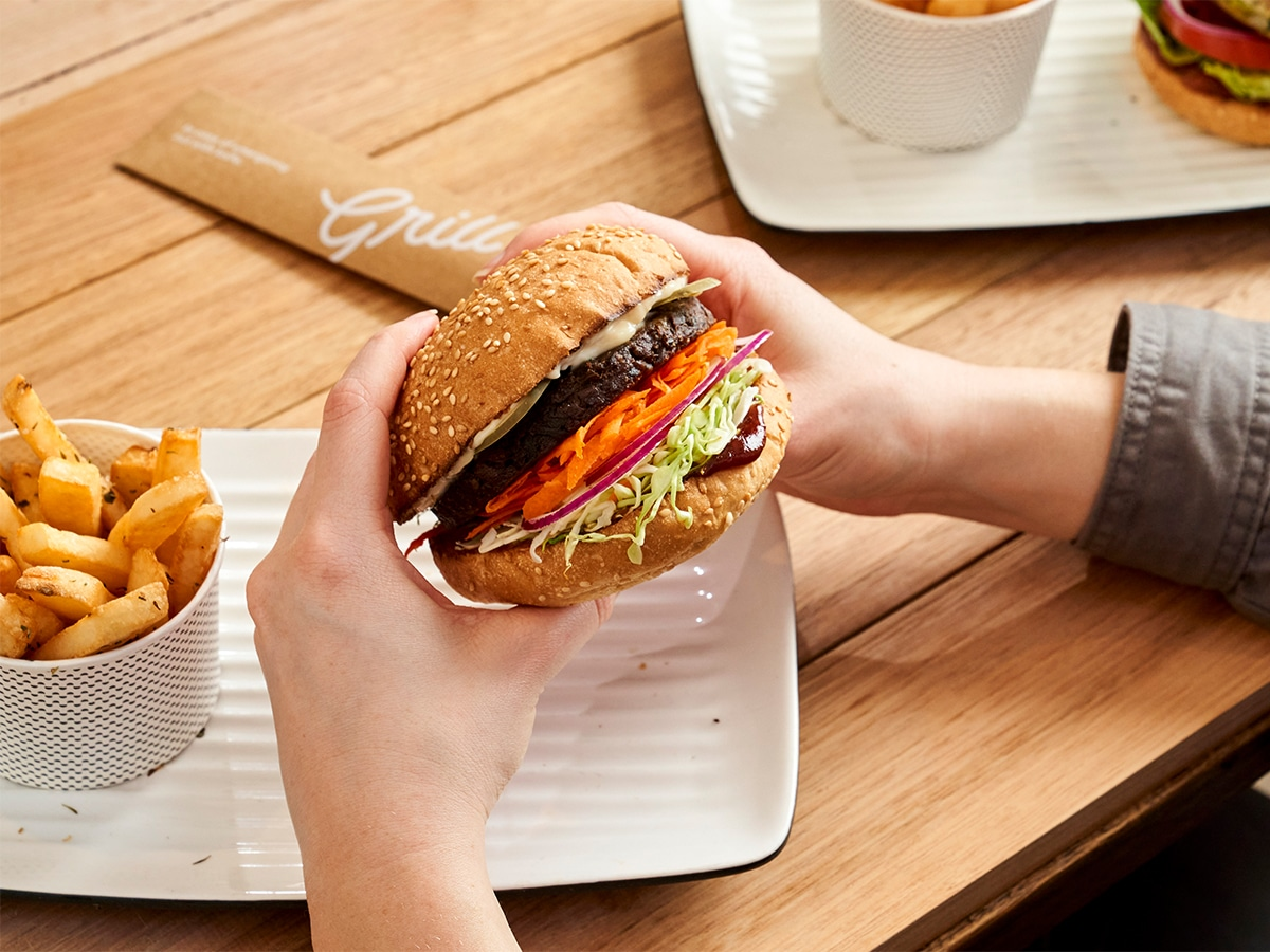 Grilld fable burger range backed by heston blumenthal
