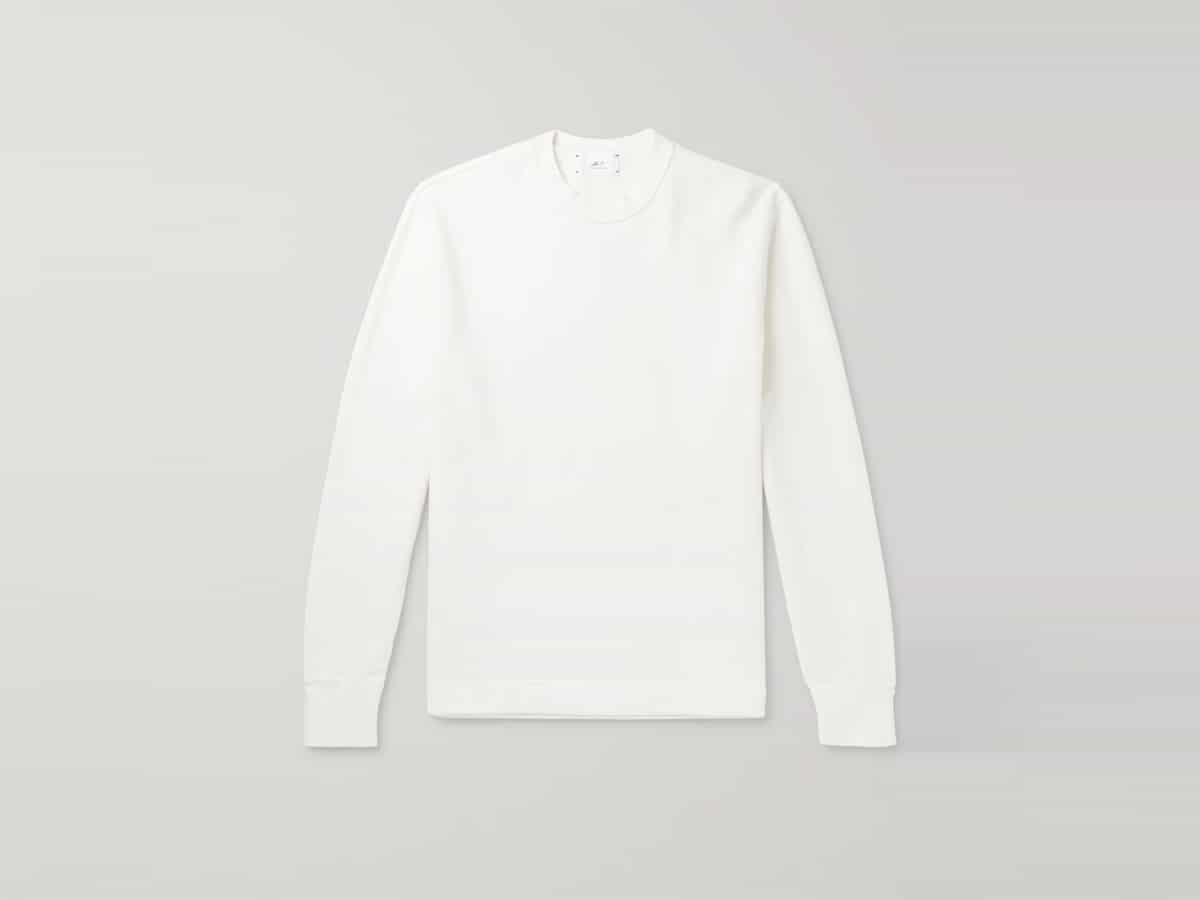Japanese organic cotton jersey sweatshirt