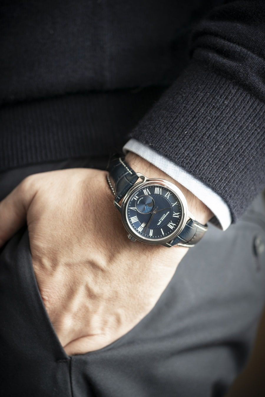 moon phase timepiece watch lifestyle